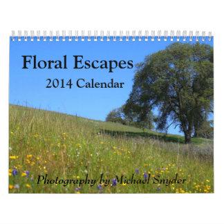 Kalender för 2014 blomma