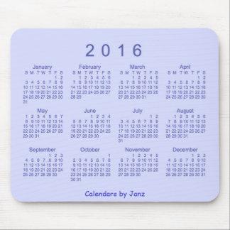 Kalender för 2016 blått av Janz Mousepad Mus Matta