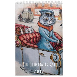 Kalender för 2017 illustrerad katter - Louis Wain