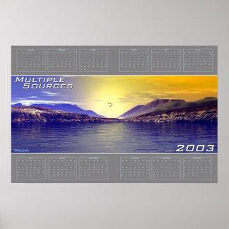 Kalender för åtskilliga källor 2003 poster