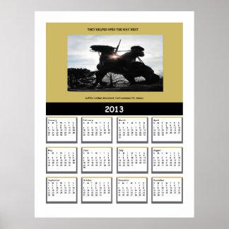 Kalender för buffelsoldat 2013 posters