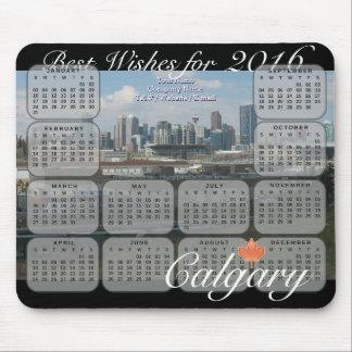 Kalender för Calgary horisont 2016 Musmatta