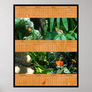 kalender för fjäril 22x28 poster