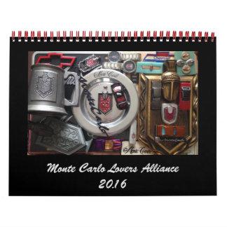 Kalender för grupp 2016 för FB för Monte - carlo