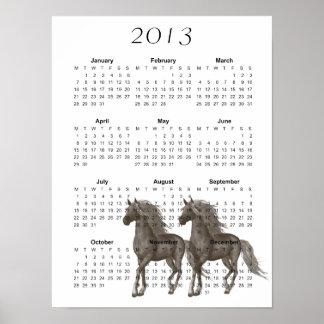 Kalender för hästar 2013 affischer