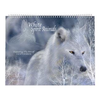 Kalender för konst för vitandedjur