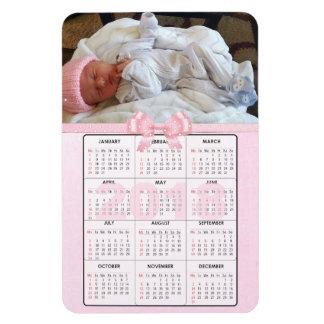 Kalender för magnet för kylskåp för rosababy 2018