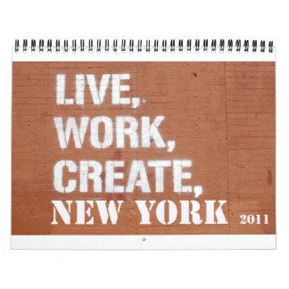 Kalender för NYC 2011
