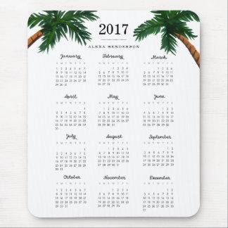 Kalender för palmträd 2017 musmatta