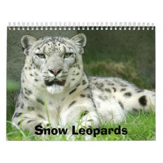 Kalender för snöLeopards, snöLeopards