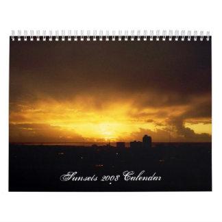 Kalender för solnedgångar 2008