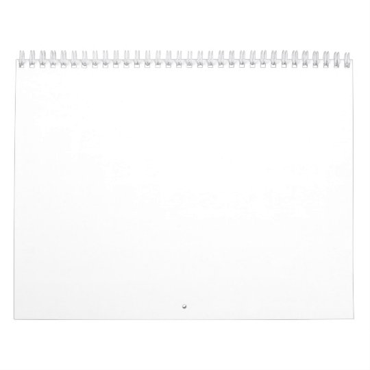 Två sidor, Medium, Vit Calendar