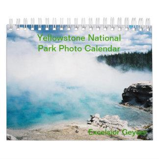 Kalender för Yellowstone nationalparkfoto