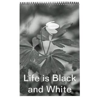 Kalender - liv är svartvitt