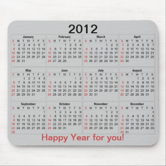 Kalender Mousepad 2012 Mus Mattor