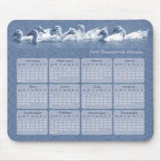 Kalender Mousepad för 2011 kall blåttankor Musmattor