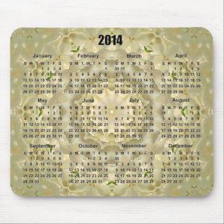 Kalender Mousepad för blommarbukettMandala 2014 Musmattor
