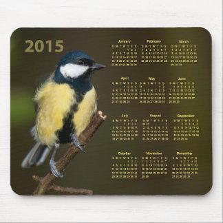 Kalender Mousepad för fågel 2015 för Mus Matta