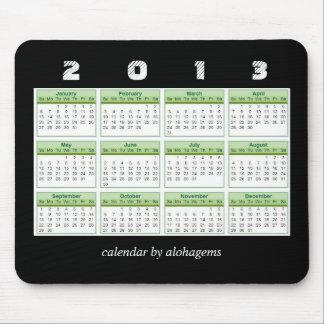 Kalender Mousepad för Rainforestgrönt 2013 Mus Mattor