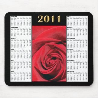 Kalender Mousepad för röd ros 2011 Musmattor