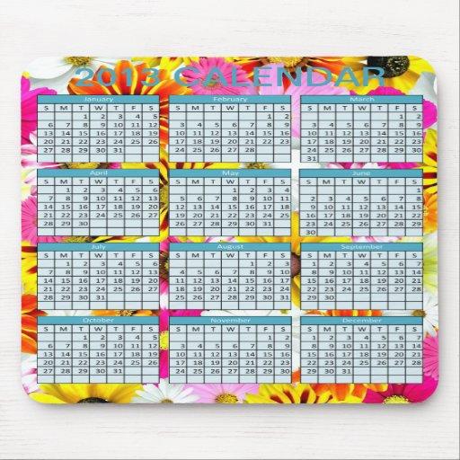 Kalender på en Mousepad Musmattor