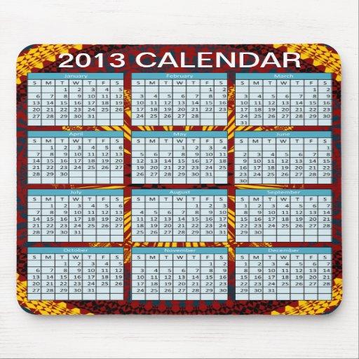 Kalender på en Mousepad Mus Mattor