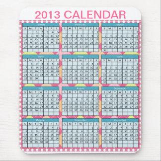 Kalender på en Mousepad Musmatta