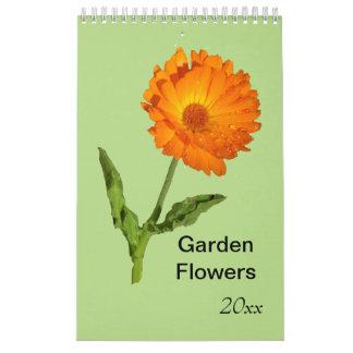 Kalender - singelsida - trädgårdblommor