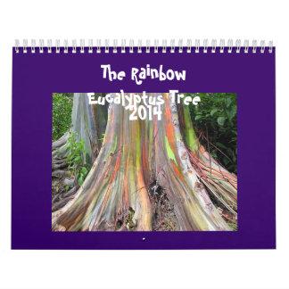 Kalendern för regnbågeEucalyptusträd 2014 Kalender