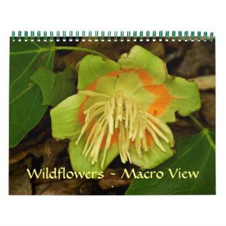 Kalendern - vildblommar - makroen beskådar kalender