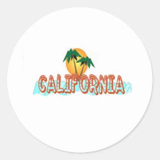 Kalifornien coola runt klistermärke