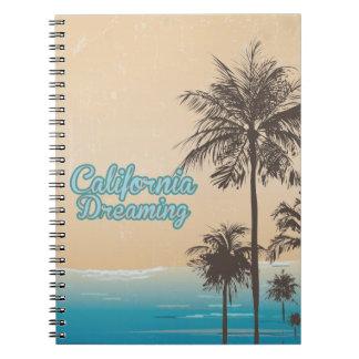 Kalifornien drömma anteckningsbok med spiral
