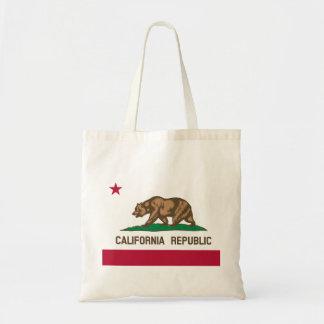 Kalifornien flagga tote bags