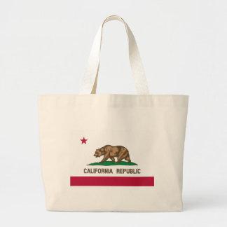 Kalifornien flagga tygkassar