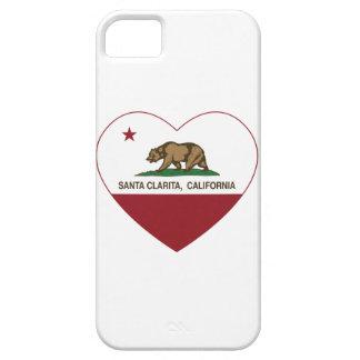 Kalifornien flagga Santa Clarita heart.png iPhone 5 Case-Mate Fodral