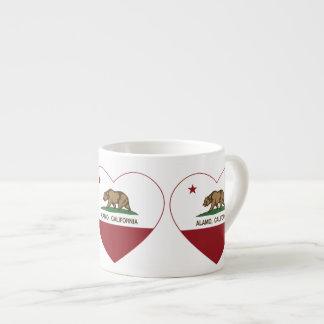 Kalifornien flaggaalamo hjärta espressomugg
