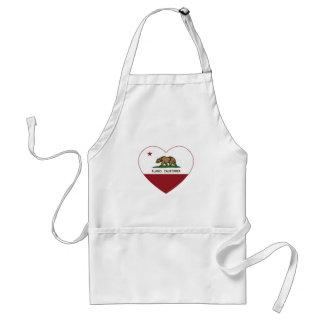 Kalifornien flaggaalamo hjärta förkläde
