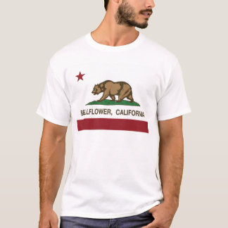 Kalifornien flaggablåklocka tee shirts