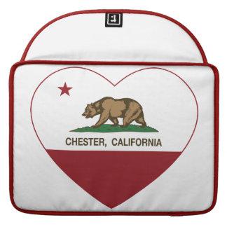 Kalifornien flaggachester hjärta sleeves för MacBooks