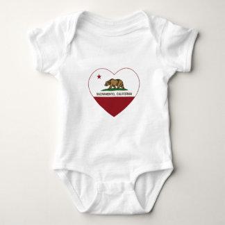 Kalifornien flaggasacramento hjärta tröja