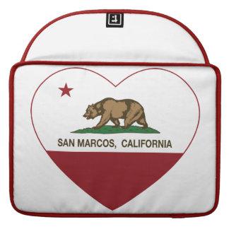 Kalifornien flaggaSan Marcos hjärta Sleeve För MacBook Pro