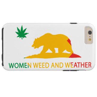 Kalifornien kvinnor ogräs och väderflagga tough iPhone 6 plus fodral