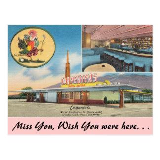 Kalifornien snickare restaurang vykort