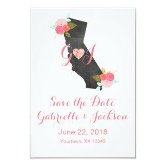 Kalifornien statlig chic blom- spara datera 8,9 x 12,7 cm inbjudningskort