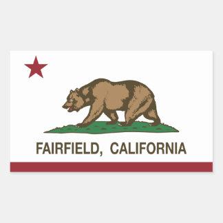 Kalifornien statlig flagga Fairfield Rektangulärt Klistermärke