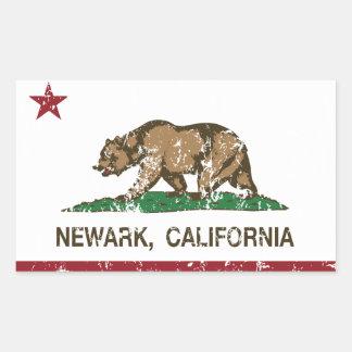 Kalifornien statlig flagga Newark Rektangulärt Klistermärke
