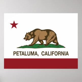 Kalifornien statlig flagga Petaluma Poster