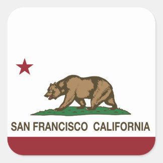 Kalifornien statlig flagga San Francisco Fyrkantigt Klistermärke