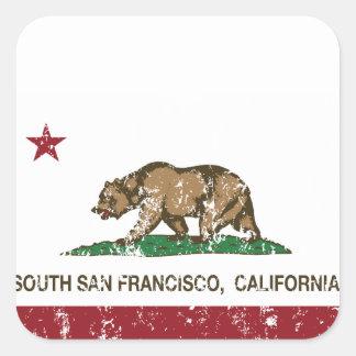 Kalifornien statlig flagga södra San Francisco Fyrkantigt Klistermärke
