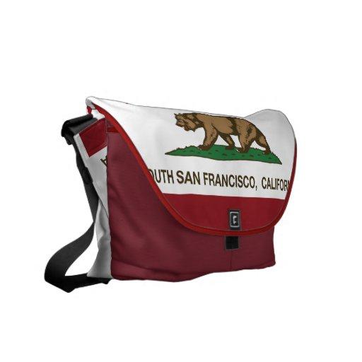 Kalifornien statlig flagga södra San Francisco Messenger Bag